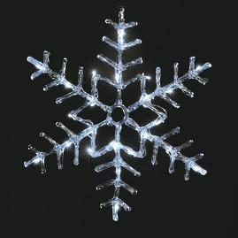 "LED 20"" Outdoor Dendrite Snowflake"