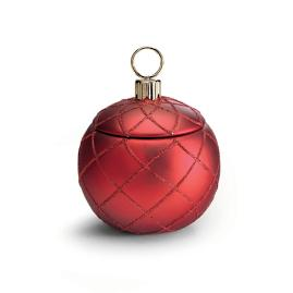 French Bee Red Ornament Candle
