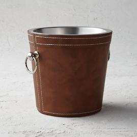 Leather Double Wall Wine Bucket