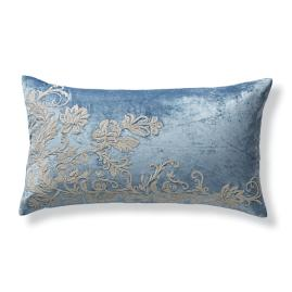 Aviana Velvet Pillow Sham in Blue