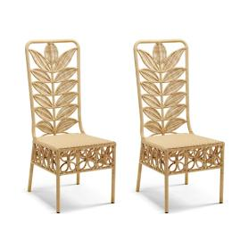 Lotus Dining Chairs, Set of Two