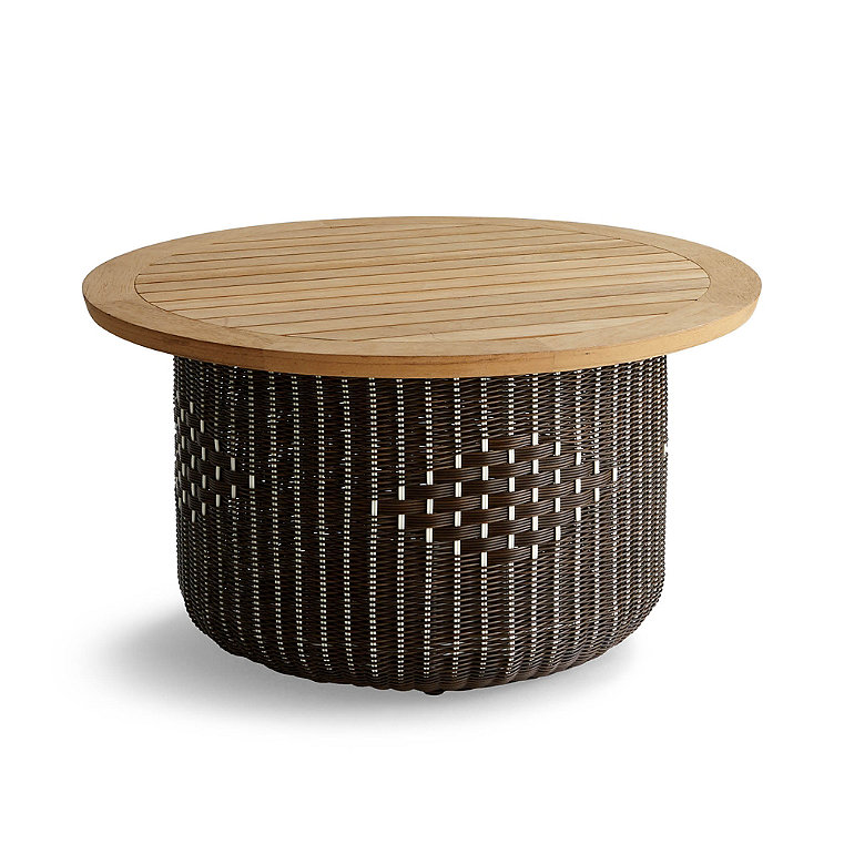 Harper Wicker Storage Coffee Table