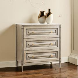 Hugo Marble Top 3-drawer Chest
