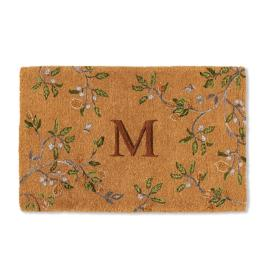 Lemon Tree Monogrammed Coco Door Mat