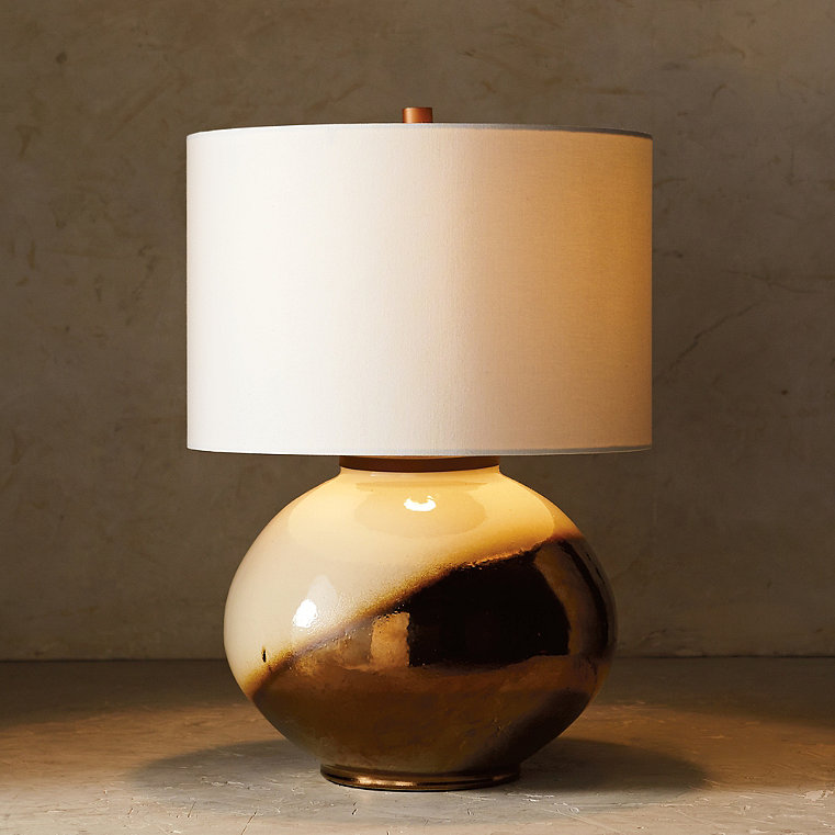 Blanc de Chine Metallic Dip-dye Low Pot Table Lamp