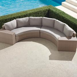 Pasadena II 4-piece Sofa Set in Dove Finish