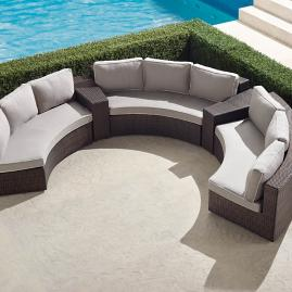Pasadena II 5-pc. Sofa Set in Bronze Finish