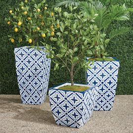 Mykonos Handpainted Planter