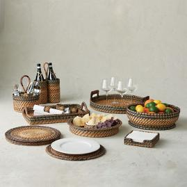 Rattan Nito Footed Bowl
