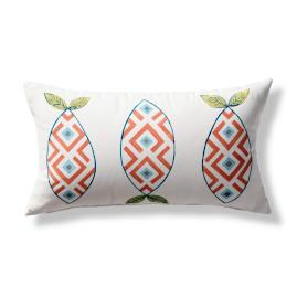 Corrie Sound Handpainted Lumbar Indoor/Outdoor Pillow