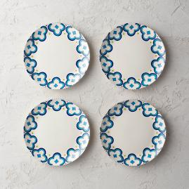 Alhambra Salad Plates, Set of Four