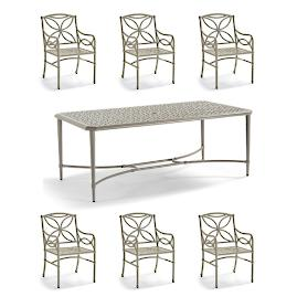 Tourelle 7-pc. Dining Set in Pebble Gray Finish