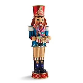"LED 58"" Nutcracker with Music Box and Moving"