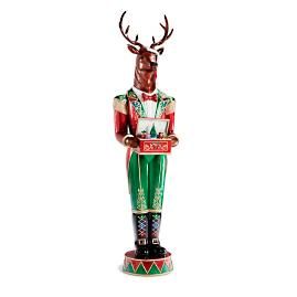 "LED 82"" Stag Nutcracker with Music Box"