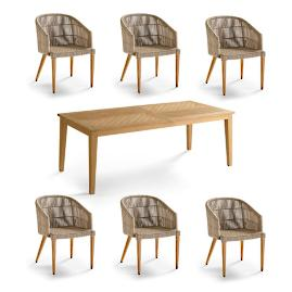 Lowry 7-pc. Rectangular Dining Set