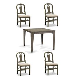 Folding Table with Set of Four Chairs