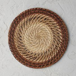 Rattan Nito Striped Placemats, Set of Four