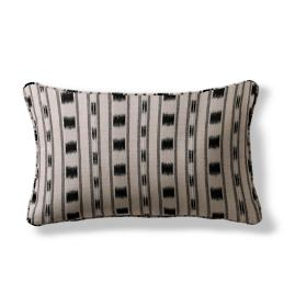 Ikat Stripe Lumbar Indoor/Outdoor Pillow