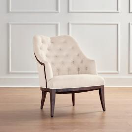 Garrett Accent Chair in Dark Brown Finish