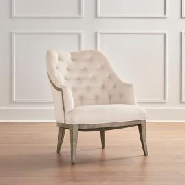 Garrett Accent Chair in Heathered Gray Finish