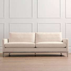Putnam Sofa in Stone Gray Finish