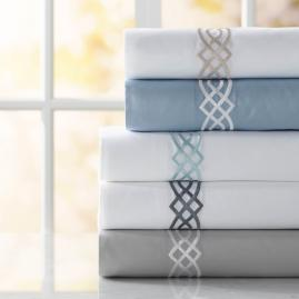 Resort Diamond Trellis Egyptian Cotton Sheet Set