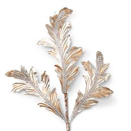 Champagne Acanthus Leaf Stems, Set of Six