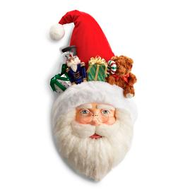 Christmas in Toyland Santa Wall Mask by Katherine's