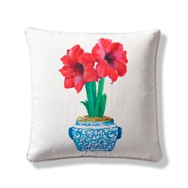Amaryllis Indoor/Outdoor Pillow