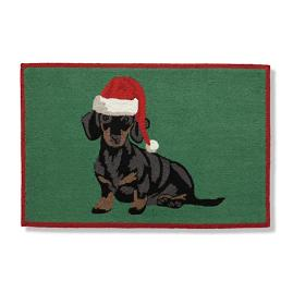 Holiday Dogs Door Mat