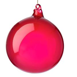 Burgundy Bubblegum Sphere Ornaments, Set of Three