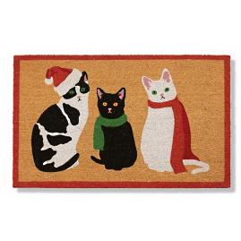 Christmas Cats Coco Door Mat