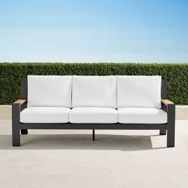 Calhoun Sofa with Cushions in Aluminum