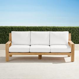 Calhoun Sofa with Cushions in Natural Teak
