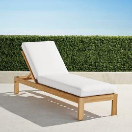 Calhoun Chaise with Cushions in Natural Teak
