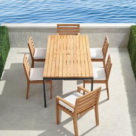 Calhoun 7-pc. Dining Set in Natural Teak