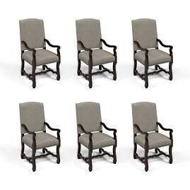 Valetta Arm Chair, Set of Six