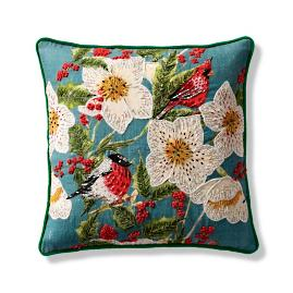 Floral Jewels Decorative Pillow Cover