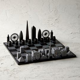 Skyline Premium Metal Chess Set