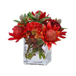 "Australian 9"" Multi Waratah in Glass"