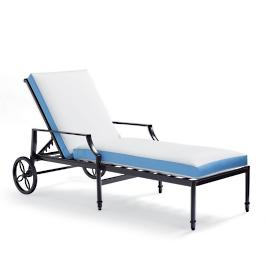 Contrast Border Outdoor Chaise Cushion