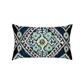 Ikat Diamond Lumbar Indoor/Outdoor Pillow by Elaine Smith