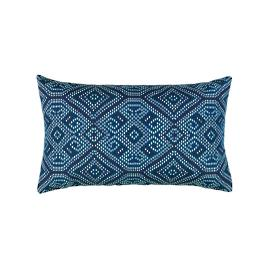 Midnight Tile Lumbar Indoor/Outdoor Pillow by Elaine Smith