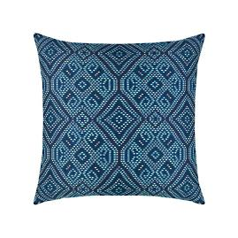Midnight Tile Indoor/Outdoor Pillow by Elaine Smith