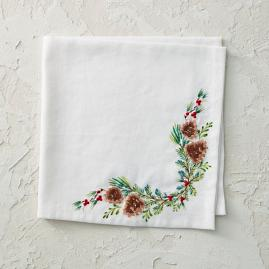 Holly Berries & Pine Cones Napkins, Set of
