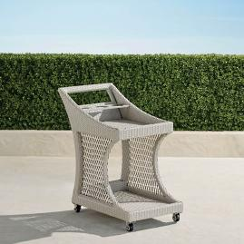 Mila Wicker Bar Cart