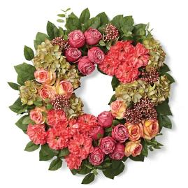 Marbella Rose Poppy Wreath