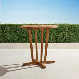 "Classic 40"" Round Teak Bar Table in Natural"