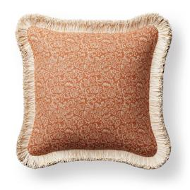 Manderly Fringed Square Indoor/Outdoor Pillow