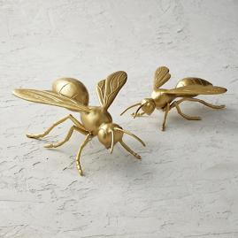 Gold Wasp Sculpture